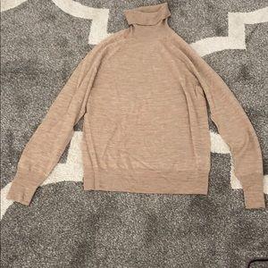JCrew Merino Wool Neutral Color Turtleneck Sweater